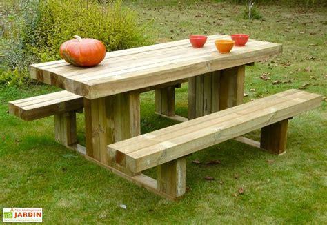 Table De Pique Nique Bois 7891 by Table De Pique Nique En Bois Autoclave 180 Cm 90 Mm