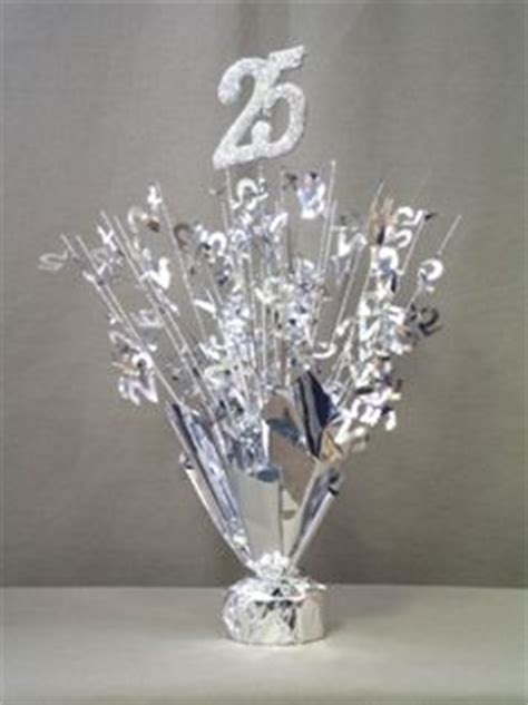 25th anniversary centerpieces silver 25th centerpieces