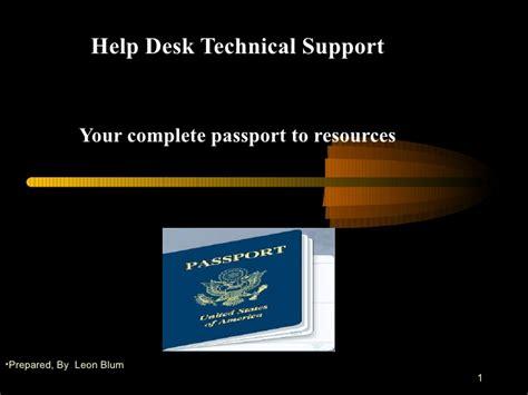 Help Desk Presentation 09202009 Presentation Helper