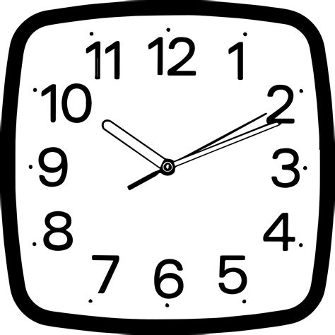 printable square clock face square wall clocks coloring page wecoloringpage