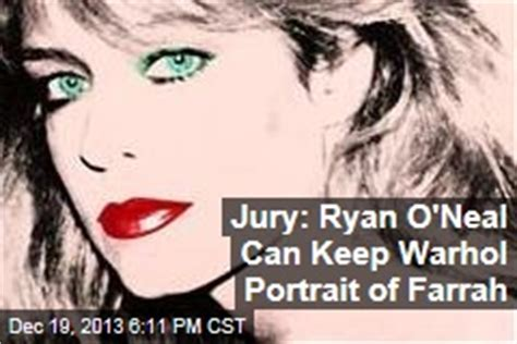 ryan oneal can keep andy warhol portrait of farrah fawcett jury andy warhol news stories about andy warhol page 1 newser