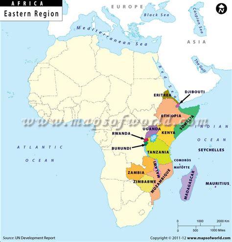 eastern africa region map africapicturesmaps