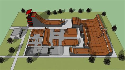 design in google sketchup google sketchup skatepark design 13 skate complex youtube
