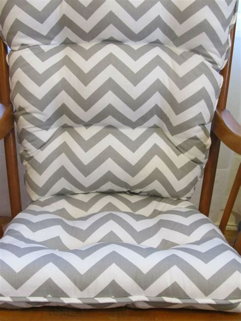 Gray Rocking Chair Cushions by Tufted Rocker Or Rocking Chair Cushion Set In Gray By