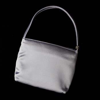 New Arrival Bna Bag Top Handle 2268 silver satin evening bag w rhinestone adornment 203