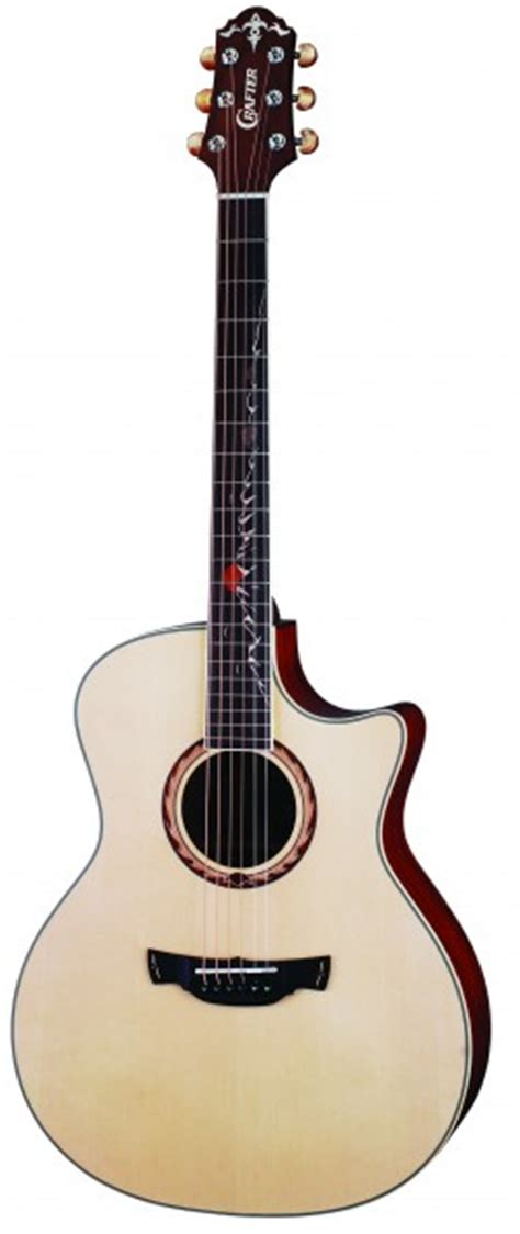 Blus Top Dnt crafter sr maho plus w hc dg electro acoustic guitar