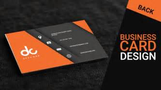 beautifully designed business cards business card design in photoshop cs6 back orange