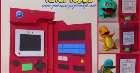 How To Make A Paper Pokedex - generation 1 pokedex papercraft paperkraft net free