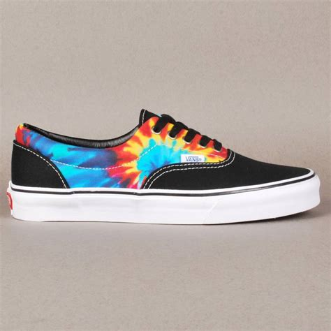 vans skate shoes vans vans era skate shoes tie dye black vans from