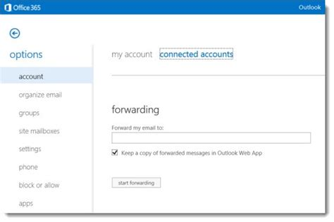 Office 365 Mail Forwarding Without Mailbox Office 365 Tip Using The Improved Outlook Web App