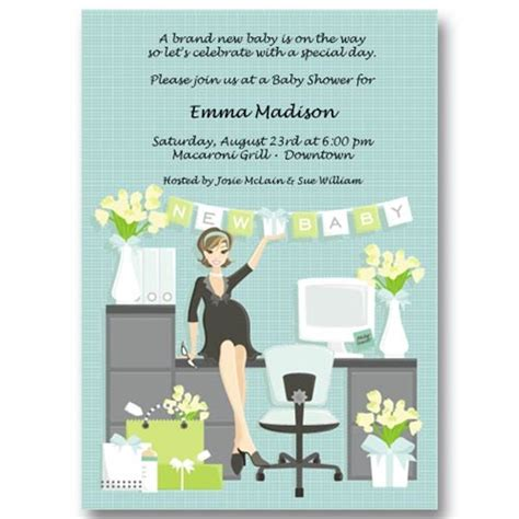 Office Baby Showers by Office Baby Shower Invitations Baby Cachet