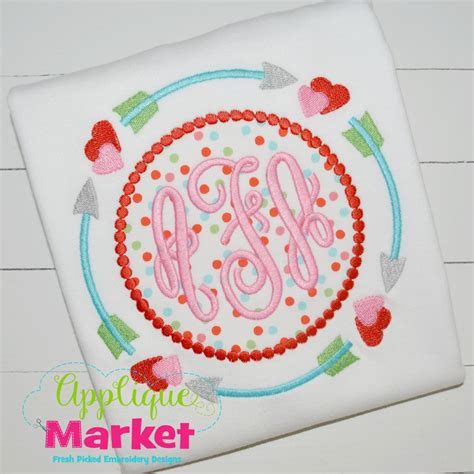 Applique Market by Tribal Arrow Frame Hearts