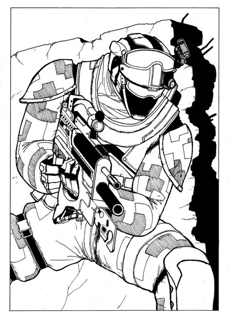 ghost recon coloring pages ghost recon future soldier by marikzero on deviantart