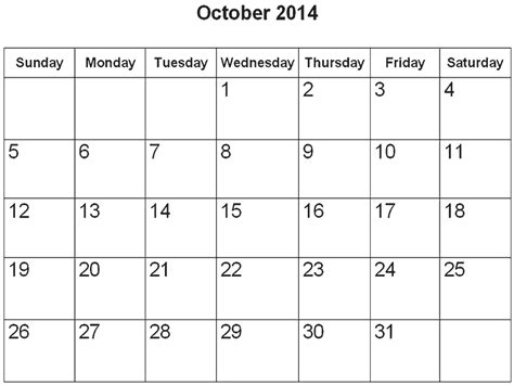 printable monthly calendar november 2014 october 2014 calendar printable template http www