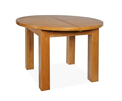Canterbury Oak Round Extending Dining Table Deal W110 150