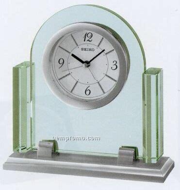 seiko brass desk clock seiko silver case glass crystal desk clock