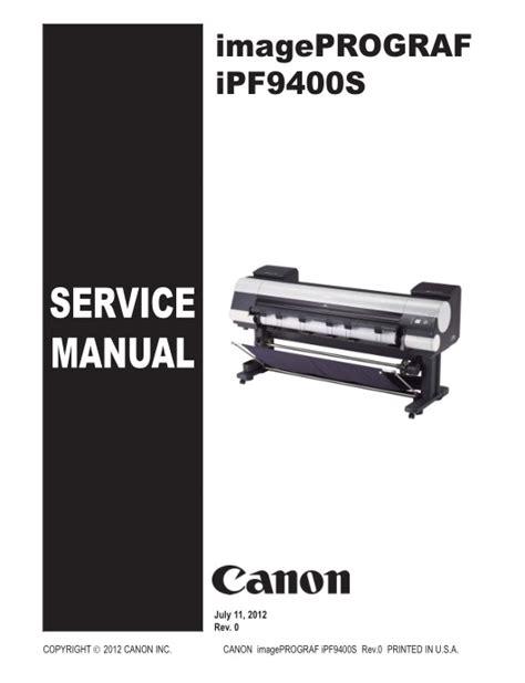 canon service canon ipf9400s service manual