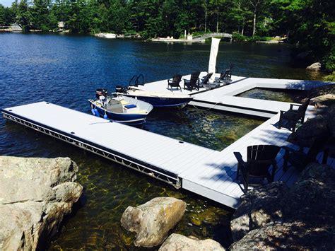 floating dock sections r j machine custom built docks in peterborough s