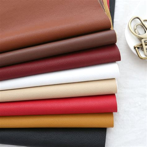 Bag3047 Material Pu Leather lichee pattern sofa thickening pu artificial leather imitation leather soft bag leather fabric