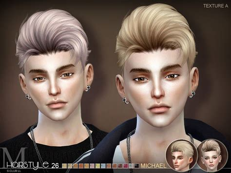 sims 4 male hairstyles s club s sclub ts4 hair michael n26