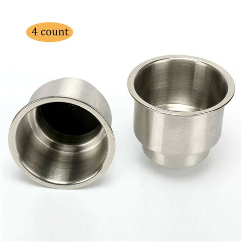 With Cup Holders by 4pcs Stainless Steel Cup Drink Holder With Drain Marine