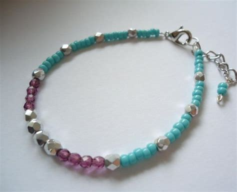 Handmade Beaded Bracelet - bohemian handmade beaded bracelet ooak hippie jewelry