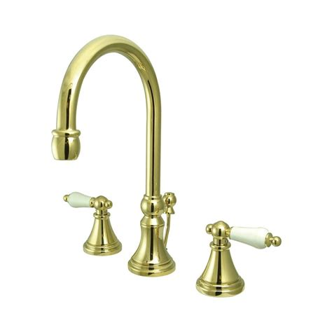brass faucets bathroom sink shop elements of design polished brass 2 handle widespread