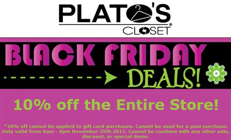 bargain bridget plato s closet coupon black friday deals