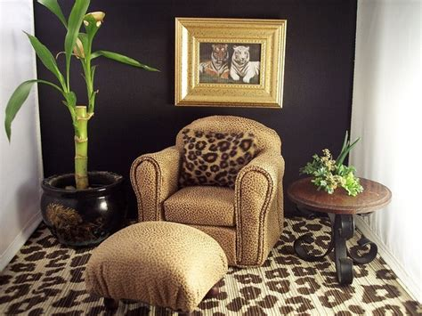 Leopard Living Room leopard print decor living room doll house