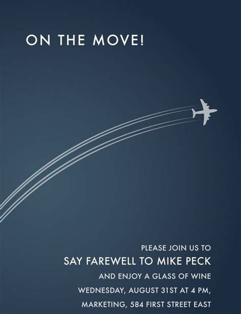 farewell going away invitation sle invitations online