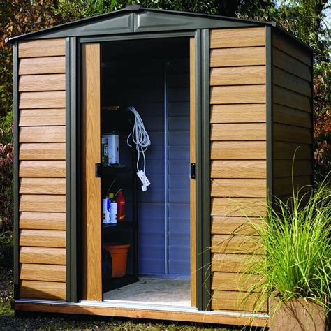 Rowlinson Shed by Rowlinson Woodvale 6 X 5 Metal Garden Storage Shed