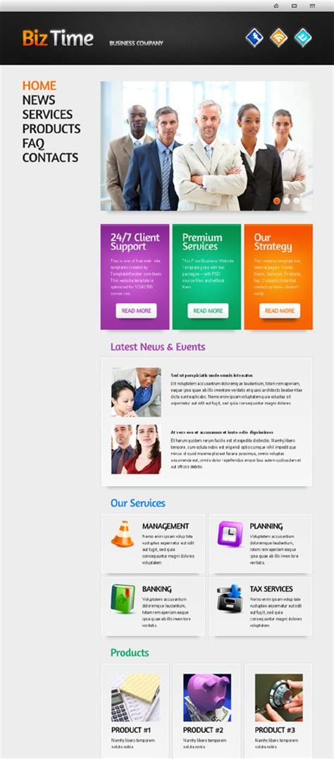 Free Web Templates One Page Layouts Website Templates Blog One Page Website Template Free Website Templates Layouts