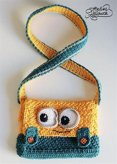 yellow pattern purse crochet pattern minion yellow and blue purse pdf file