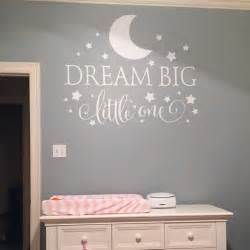 Wall Sticker Quotes For Nursery Dream Big Little One Quotes Wall Decal Nursery Wall