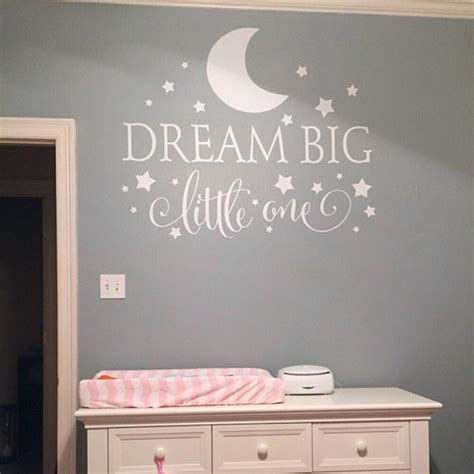Nursery Wall Sticker Quotes dream big little one quotes wall decal nursery wall