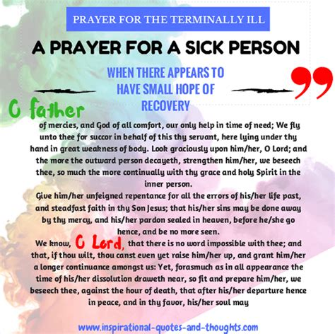 comfort words for sick person free spiritual healing prayers