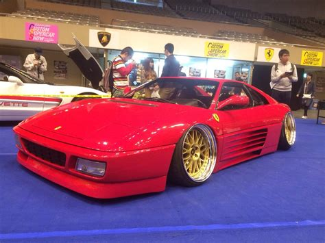 stanced ferrari someone thought a slammed ferrari was a good idea carscoops