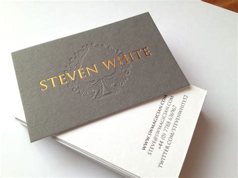 Gold Embossed Business Cards simple embossed business cards business card design