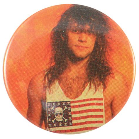 bon jovi jon flag t.shirt button badge
