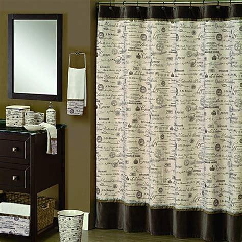 script shower curtain buy edwardian script 70 inch x 72 inch shower curtain in
