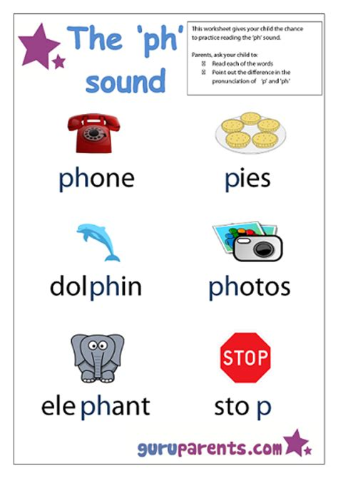 ph pattern words letter p worksheets guruparents