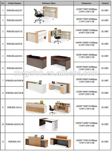 reception desk dimensions customized dimensions reception desk for office salon