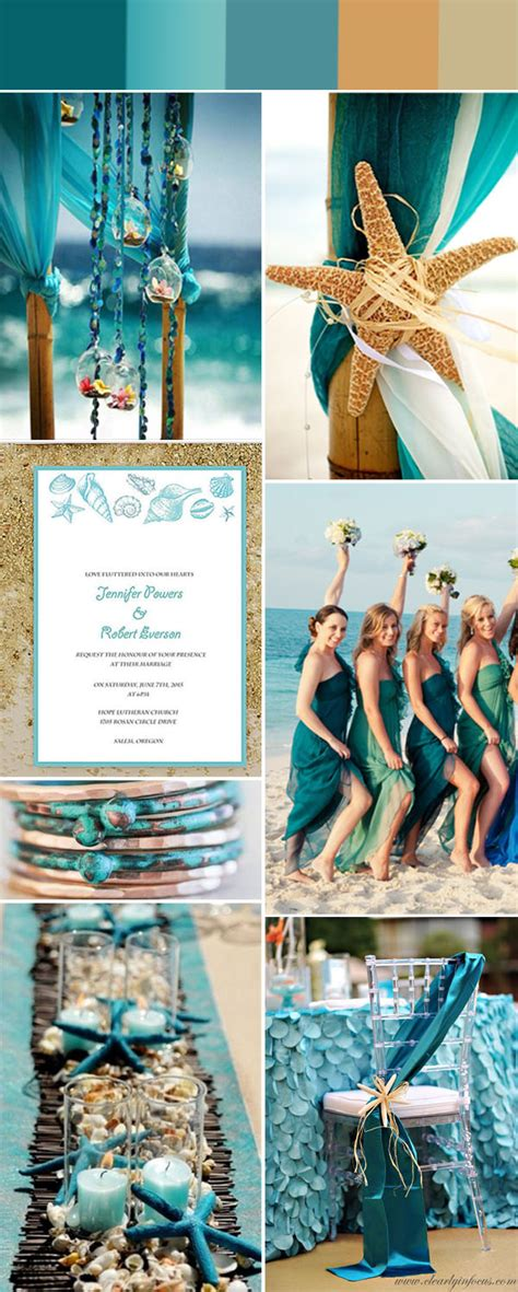 colour themes for beach wedding gorgeous summer beach wedding color ideas with invitations