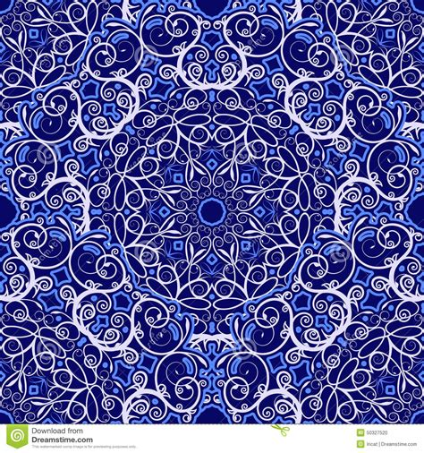 navy pattern vector seamless background of circular patterns navy blue
