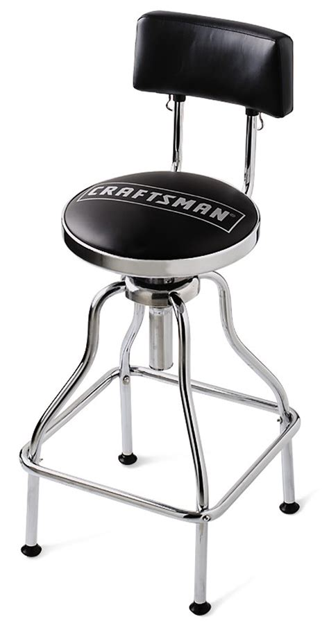 Garage Chairs Stools by Craftsman Chrome Vinyl Hydraulic Hydraulic Stool Stools