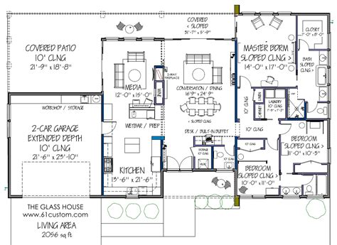 Free Floorplans by Free Contemporary House Plan Free Modern House Plan The