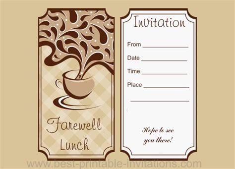 Invitation Letter For Farewell Farewell Lunch Invitation