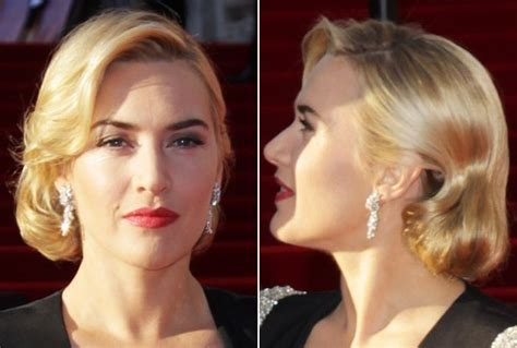 get hollywood celebrity hairstyles at home kate winslet s retro inspired faux bob do it yourself