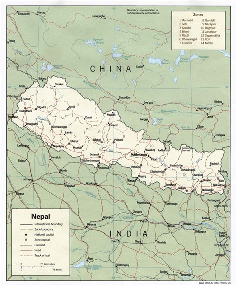 middle east map nepal modern index