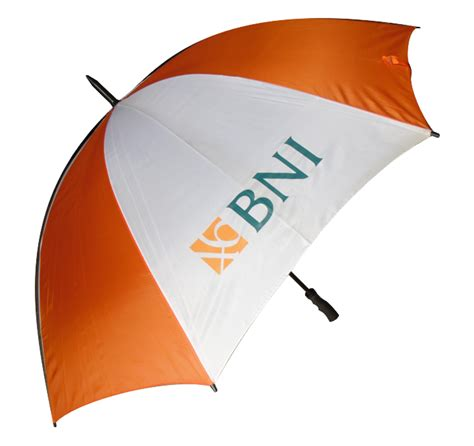 Warna Putih Orange payung golf orange putih logo bni
